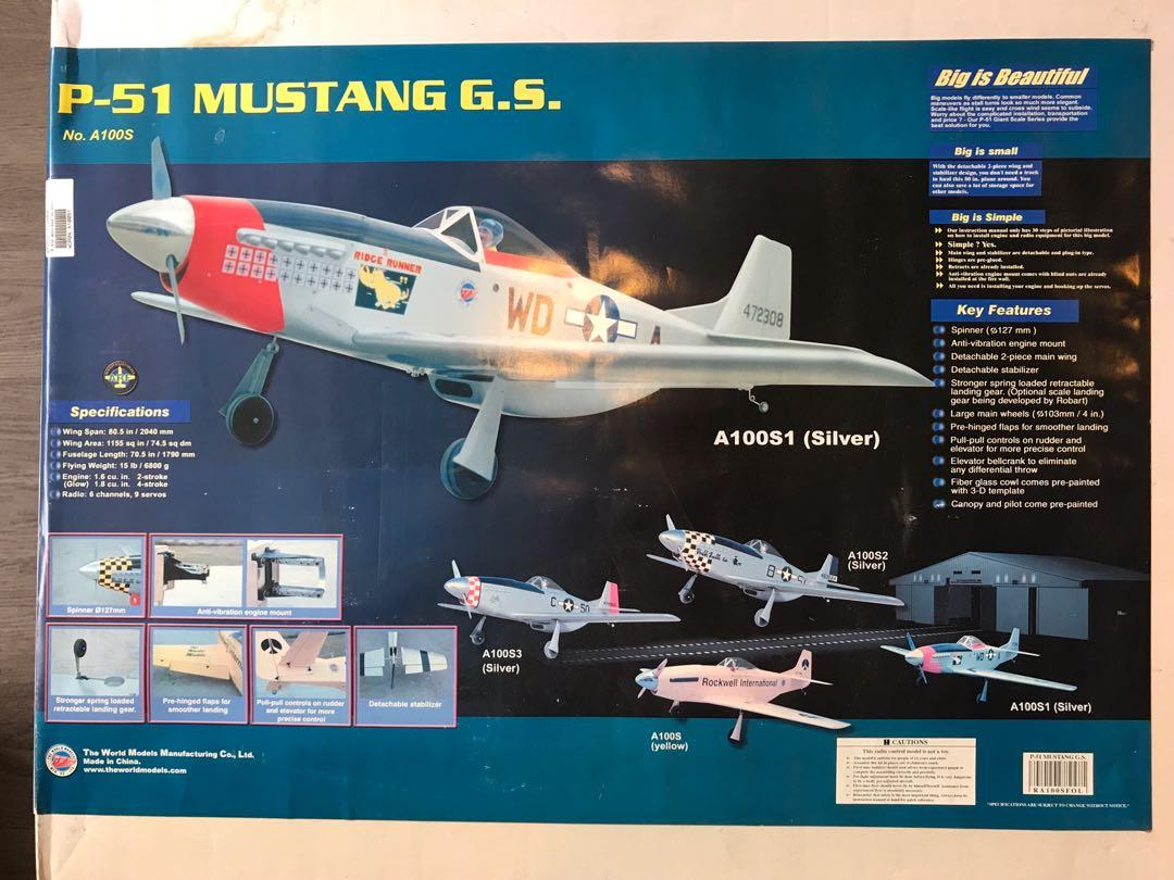 RC P-51 Mustang Warbird, Toys & Games, Others on Carousell