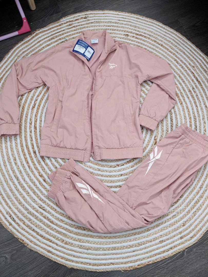 Reebok LF Vector Chalk Dusty Pink Track suit Jacket pants