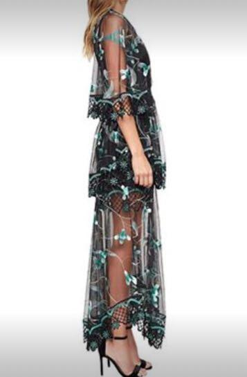 RENT Alice McCall Emerald green formal cocktail dress size 6 fits size 8