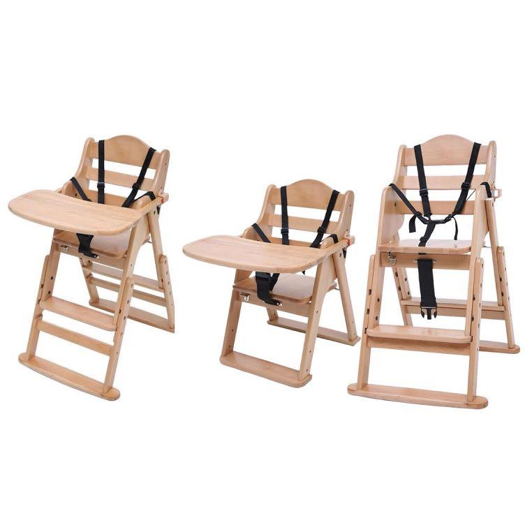 RRP$175.95 Tikk Tokk Wooden High & Low Feeding Chair