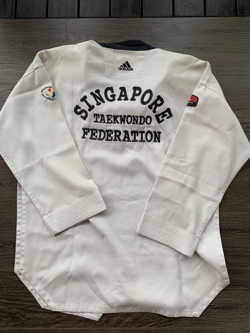 Taekwondo Uniform - Adidas Black Size 180
