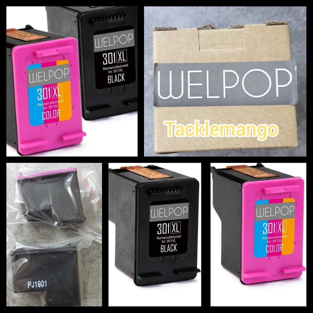 1000 1010 welpop remanufactured hp 301xl 301 ink cartridges black/tri