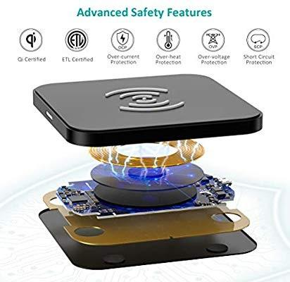 [HG409] Wireless Charger, Qi Certified Wireless Charging Pad
