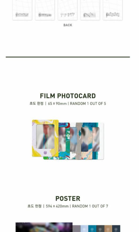 [WTB] Day6 The Book of Us Gravity preoreder benefit Film Photocard