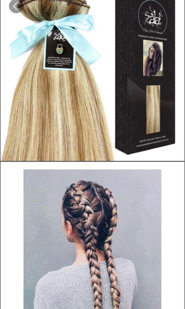 Zala Clip In Hair Extensions - Sunkissed 18 inch 5 piece