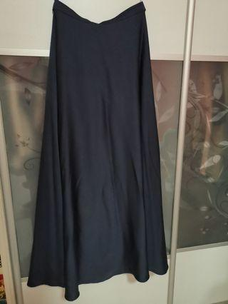 Navy blue long skirts