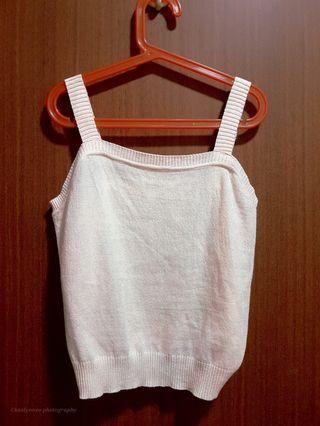 Knitted sleeveless camisole top thick straps