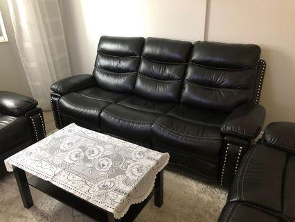 BRAND NEW 3 piece leather couch set