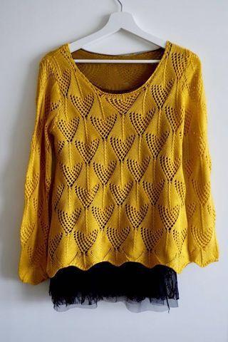 Yellow Knitted Top/Mini dress  #BAPAU
