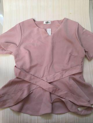 Pink Peplum Top