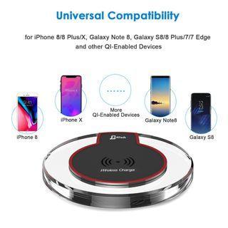 JETech 2170-Wireless-Charger-BK Universal Wireless Charger Qi Charging Pad