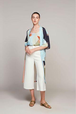 Morning Duster Kimono (Blue)