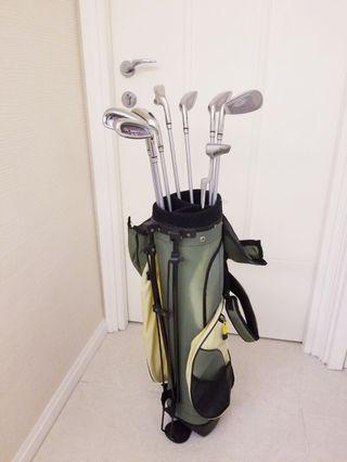 [九成新90%new]女裝女仕女士用女仔款高爾夫球棍初階初級學習練習棍連袋icicles ladies gold clubs with bag