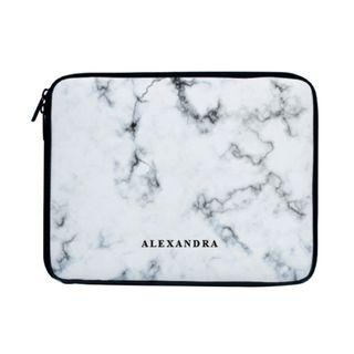 White Marble Laptop Sleeve Case Bag Mac Acer Asus