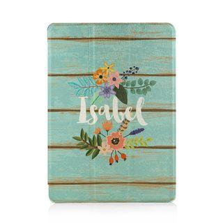 iPad Tablet Case Cover Protective Casing Turquoise Floral