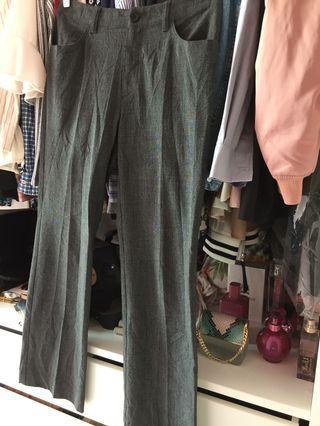 Straight Cut Dark Grey Pants