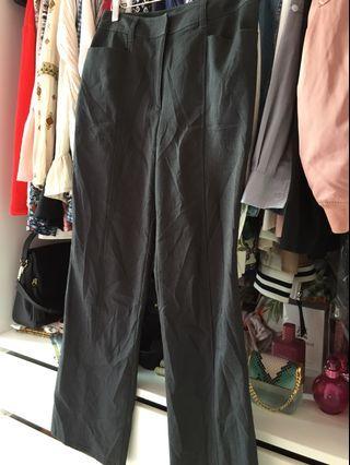 Straight Cut Dark Grey/ Black Pants