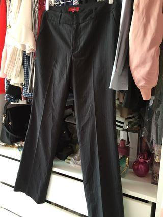 Straight Cut Black Pants (with lines)