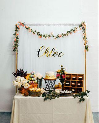 Dessert Table - Rustic Floral Theme