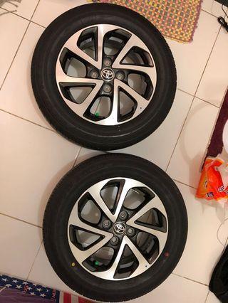 Velg Original Toyota New Agya TRD Sportivo Ring 14 + Ban