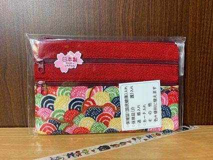 🔍全新 日本 刺繡零錢包 (紅色)