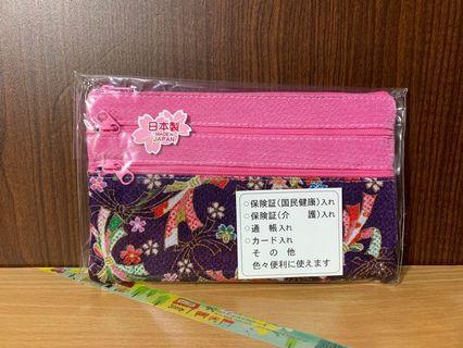 🔍全新 日本 刺繡萬用包 (粉色)