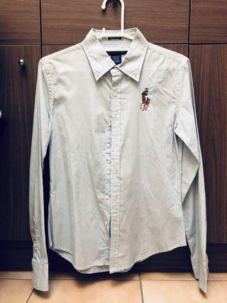 Ralph Lauren polo淺藍襯衫 8號