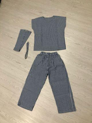 Blue stripes set
