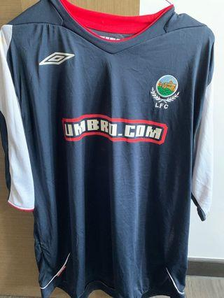 BRAND NEW NO TAGS LINFIELD FC UMBRO JERSEY SIZE 3XL