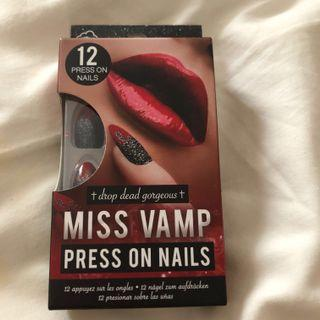 Miss Vamp Press on Nails from Boots London
