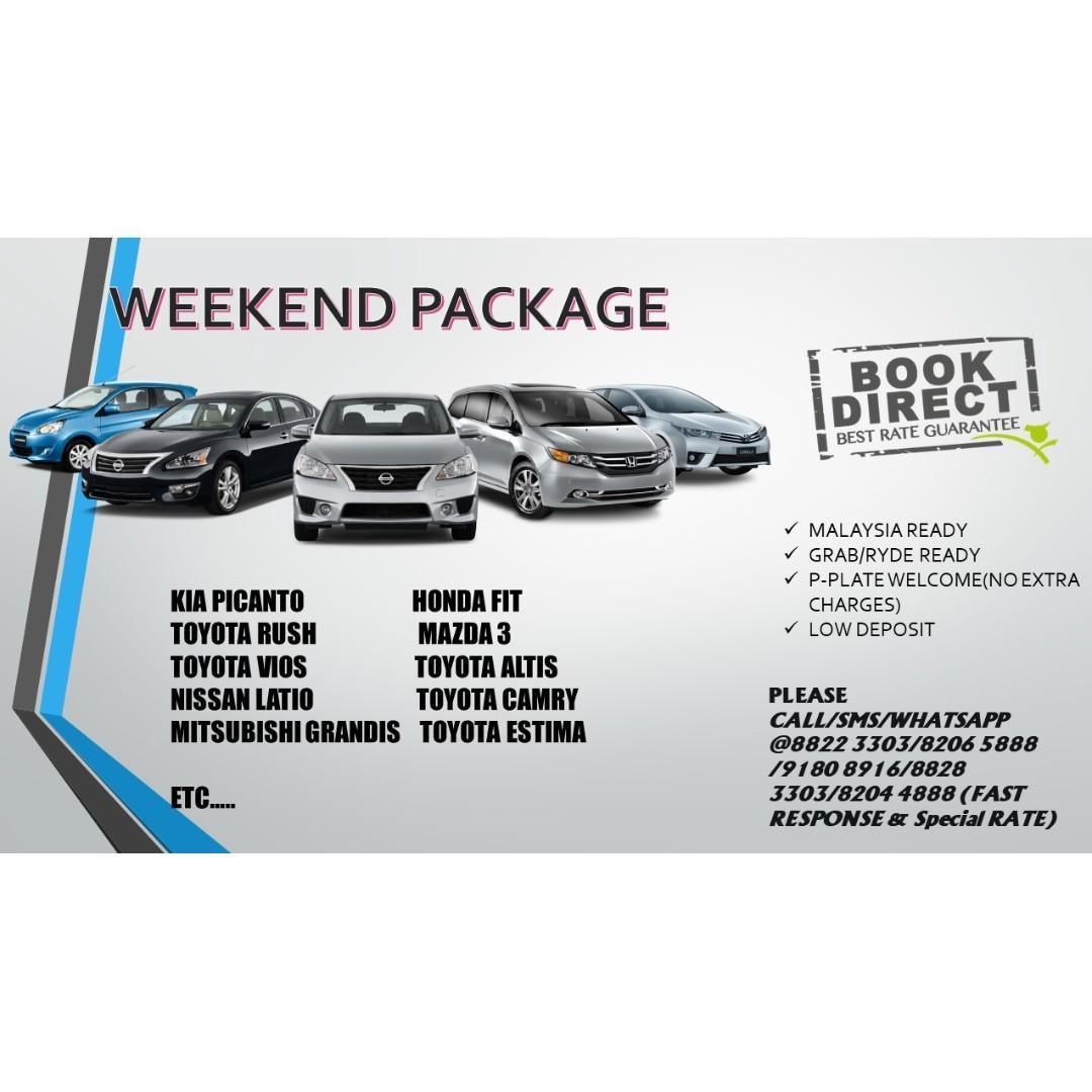16/8 - 19/8 Weekend package