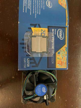 Intel Pentium G3258 with stock cooler.