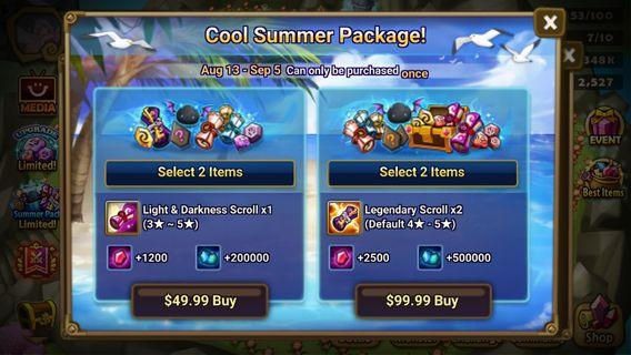 Summoners war new special packs