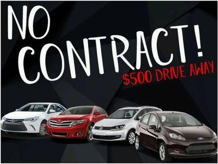NO CONTRACT CAR RENTAL/LEASING  FOR GRAB