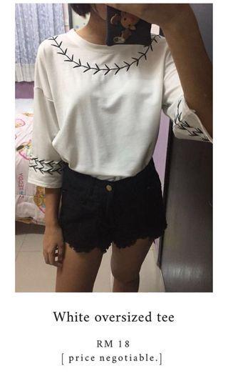 Chic korean style oversized top