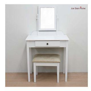 公主古典 方型化妝桌椅組 化妝桌 + 化妝椅 梳妝台 梳妝桌 化妝桌 化妝桌椅組 鏡檯 喬艾森