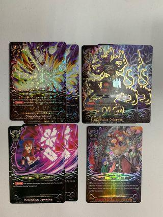 WTS Buddyfight Lost World Cards/Support