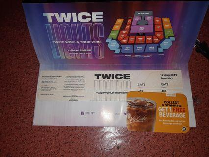 TwiceLights World Tour Cat2 403 Rm400