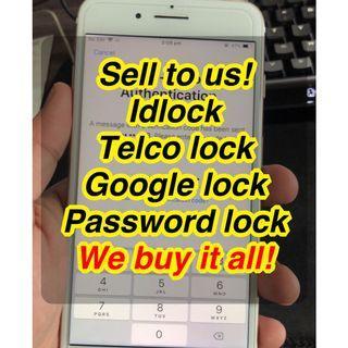 Saya beli iphone idlock / telco lock dan android
