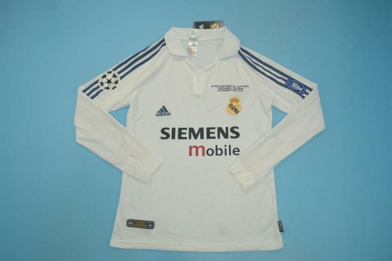 newest 4673d 3f457 2002/3 INTERCONTINENTAL CUP Long Sleeves Real Madrid Kit ...