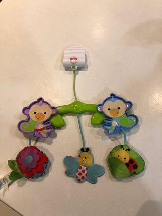 Dangling toys to stroller