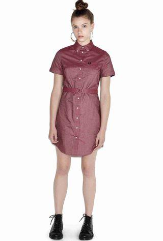 Fred Perry Rosso Oxford Shirt Dress