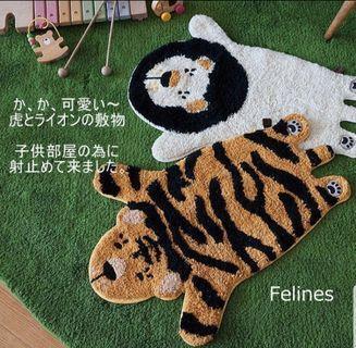 日本療癒系 兒童房佈置 純棉 踏墊地墊