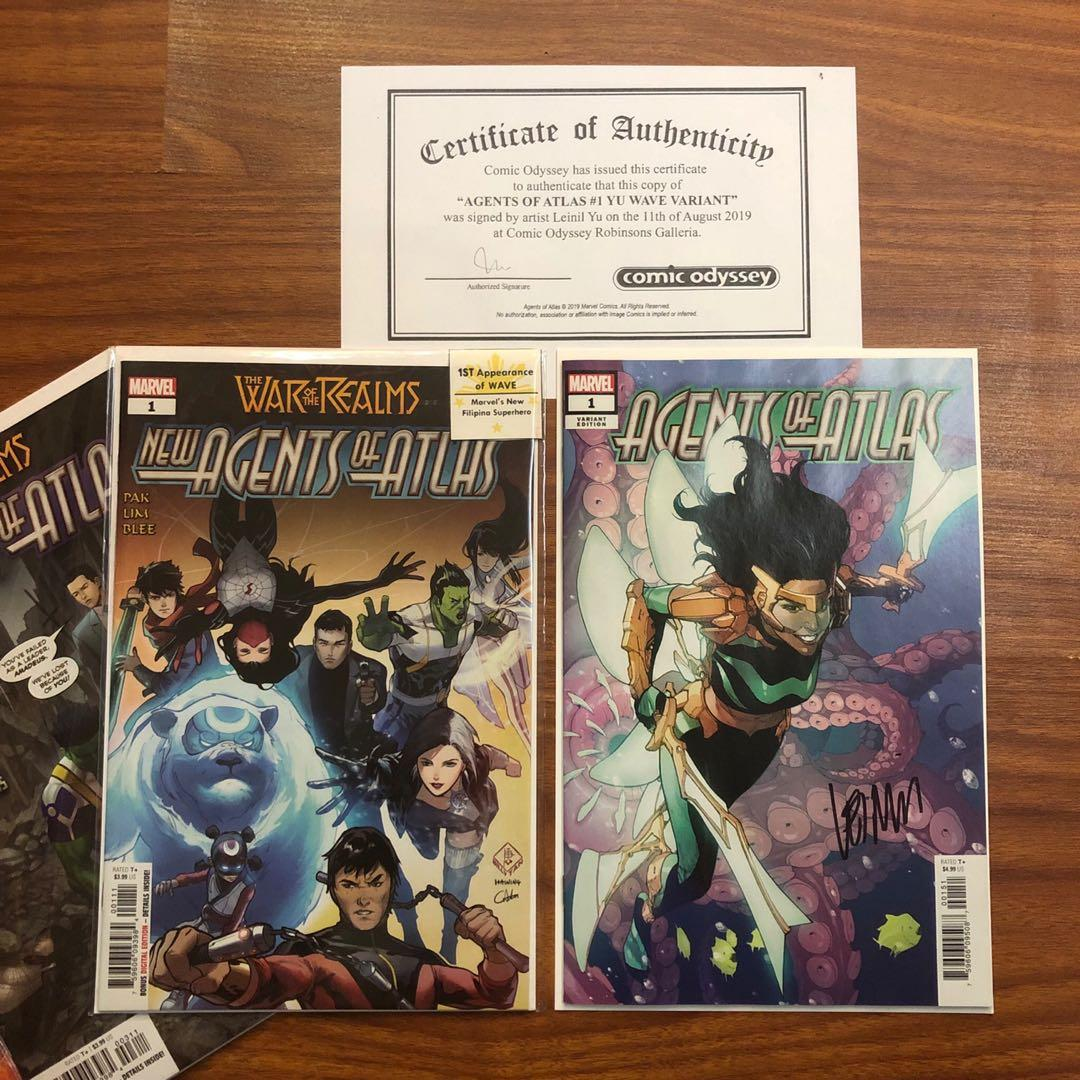 Agents of Atlas (Issue 1) Wave Variant - Signed by Leinil Yu, co-creator of Wave