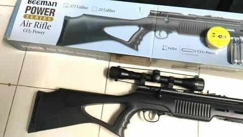 Airsoft Air Soft Gun Beeman  177 Pellet Dual Co2 Rifle not