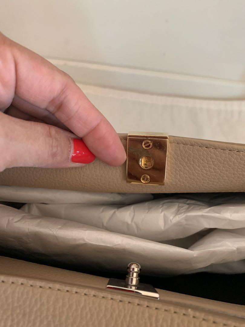 Authentic Balenciaga Le Dix Cabas Leather Bag Beige Pre-owned
