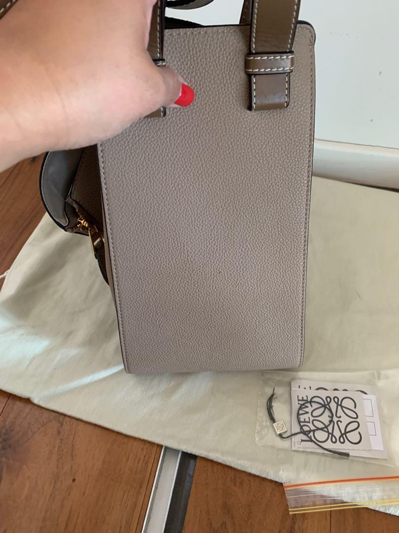 Authentic Loewe Medium Hammock Leather Bag Excellent cond Beige
