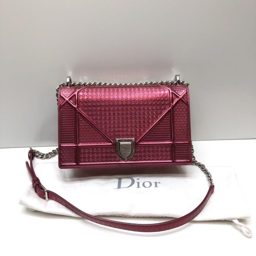 Authentic Pre-loved Christian Dior Diorama Bag Micro Cannage Leather 25cm