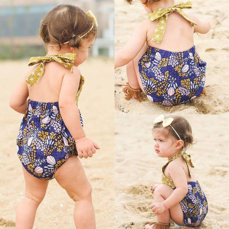 Baby Girl Batik One-Piece Jumpsuit / Romper