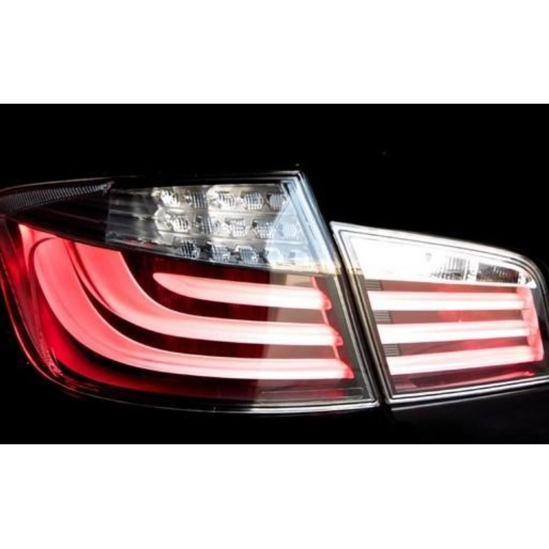 BMW 5 Series White Taillights